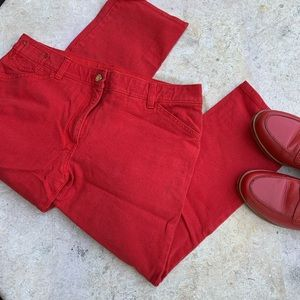 Red Chico's So Slimming cropped jeans